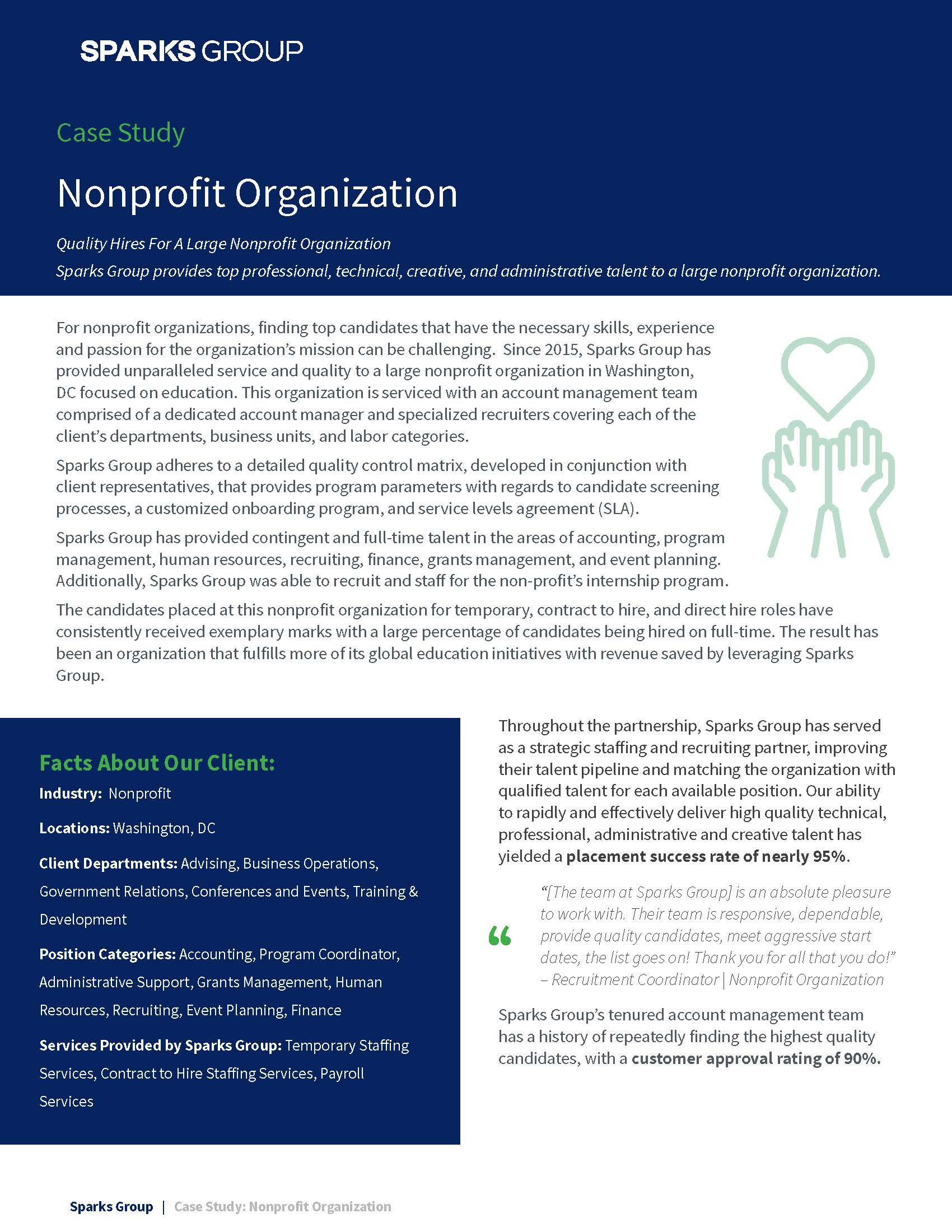 Case Study - Quality Hires For A Large Nonprofit Organization