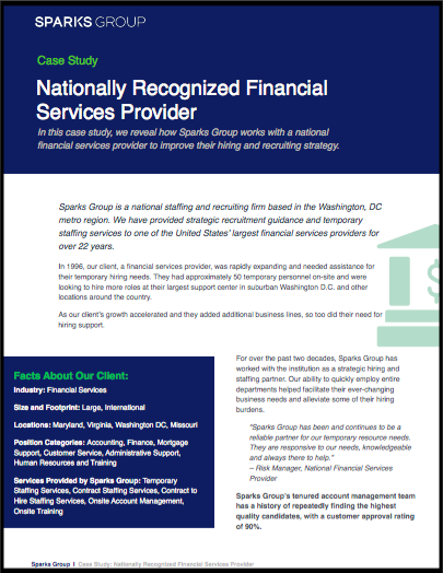 Case Study: Nationally Recognized Financial Services Provider